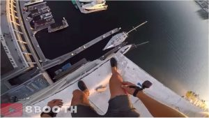 Newport Harbor 129 ft CRAZY Jump Into Water (Hero 5 Black / Session)