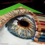 Colorful eye, 3D Colors Pencils, 633×611