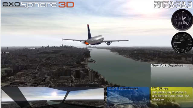 Flight 1549 3D Reconstruction, Hudson River Ditching Jan 15, 2009