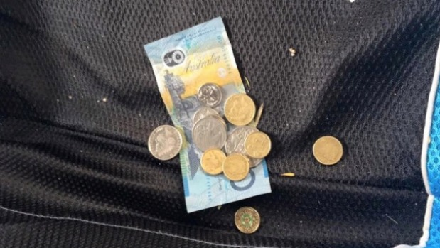 Mr Drury discovered the money when checking what had been taken from his car. Photo: Tom Drury