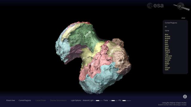 ESA View Rosette's Comet